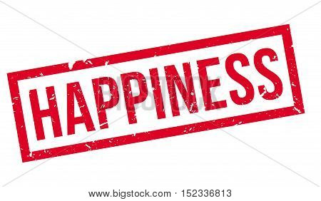 Happiness Rubber Stamp