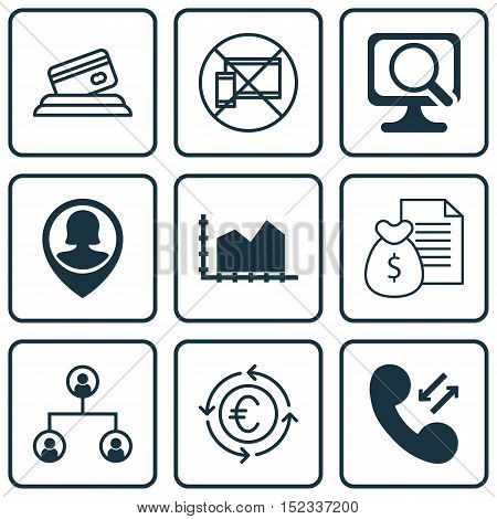 Set Of 9 Universal Editable Icons For Travel, Project Management And Computer Hardware Topics. Inclu
