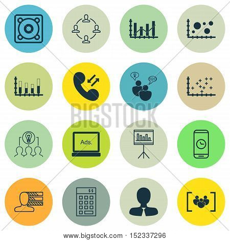 Set Of 16 Universal Editable Icons For Airport, Computer Hardware And Human Resources Topics. Includ