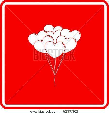 heart shaped balloons sign