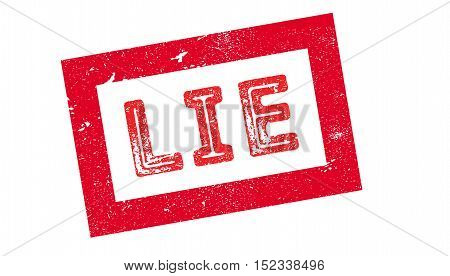 Lie Rubber Stamp