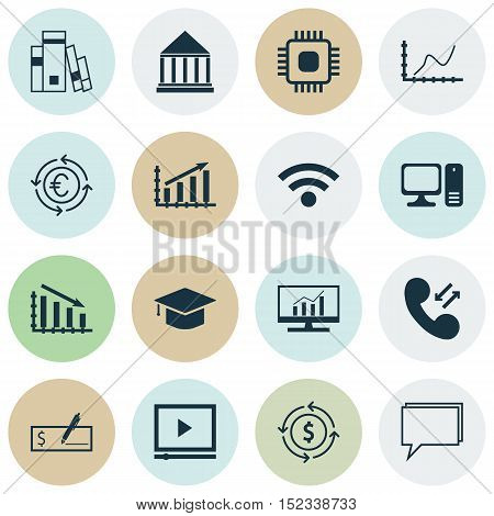 Set Of 16 Universal Editable Icons For Seo, Education And Marketing Topics. Includes Icons Such As C
