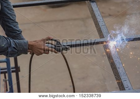 Welder works are not safety on the  roof.