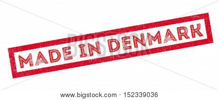Made In Denmark Rubber Stamp