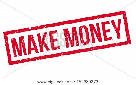 Make Money Rubber Stamp