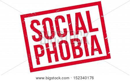 Social Phobia Rubber Stamp