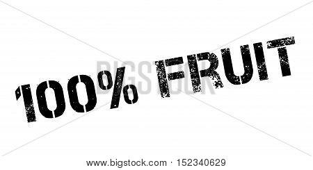 100 Percent Fruit Rubber Stamp
