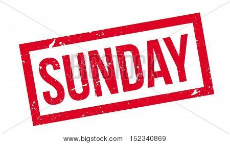 Sunday Rubber Stamp