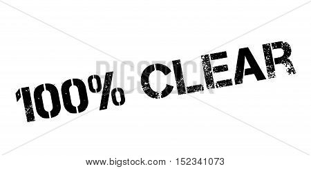 100 Percent Clear Rubber Stamp