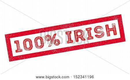 100 Percent Irish Rubber Stamp