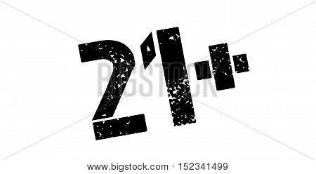 21 Plus Rubber Stamp