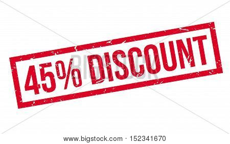 45 Percent Discount Rubber Stamp