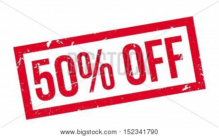 50 Percent Off Rubber Stamp