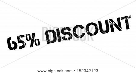 65 Percent Discount Rubber Stamp