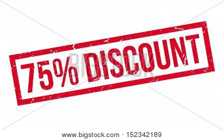 75 Percent Discount Rubber Stamp