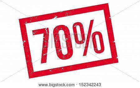 70 Percent Rubber Stamp