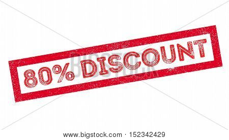 80 Percent Discount Rubber Stamp