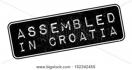 Assembled In Croatia Rubber Stamp