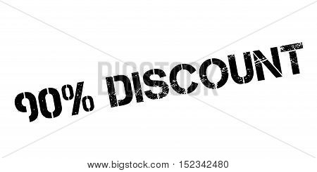 90 Percent Discount Rubber Stamp