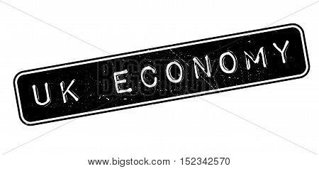 Uk Economy Rubber Stamp