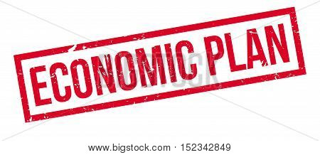 Economic Plan Rubber Stamp