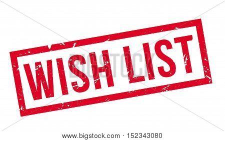 Wish List Rubber Stamp