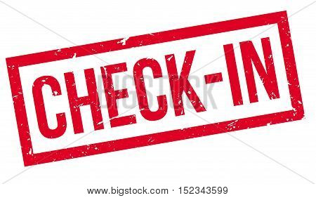 Check-in Rubber Stamp