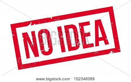 No Idea Rubber Stamp