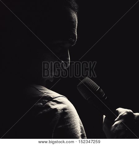 Angry Man With Microphone