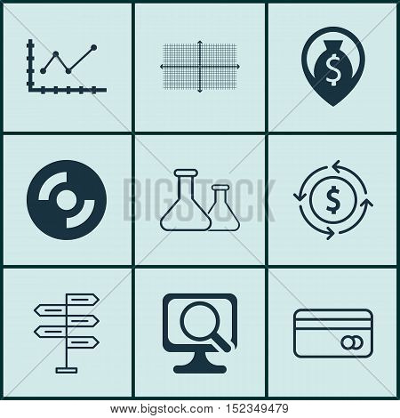 Set Of 9 Universal Editable Icons For Education, Travel And Project Management Topics. Includes Icon