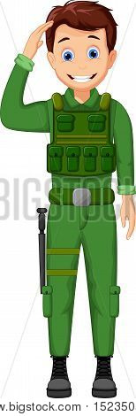 cute Army Cartoon respectful for you design