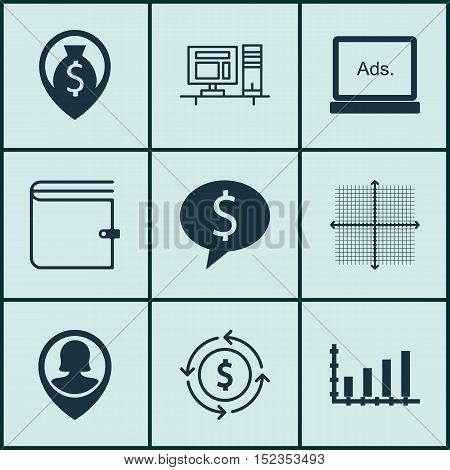 Set Of 9 Universal Editable Icons For Seo, Project Management And Statistics Topics. Includes Icons