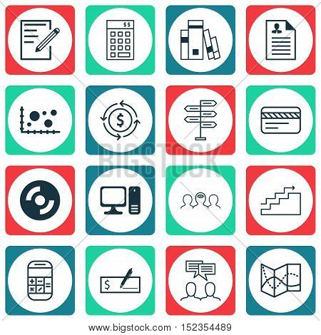 Set Of 16 Universal Editable Icons For Statistics, Human Resources And Project Management Topics. In