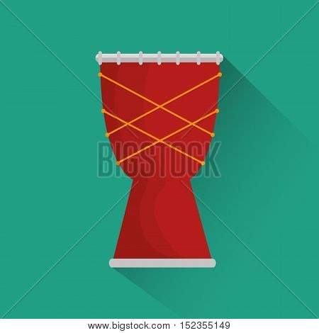 african drum music instrument festival icon vector illustration eps 10