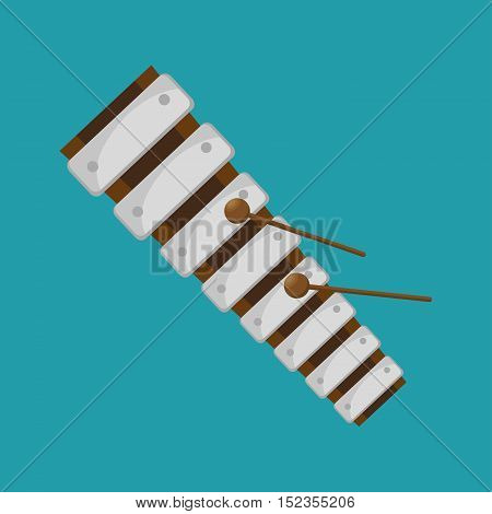 xylophone folk music instrument graphic vector illustration