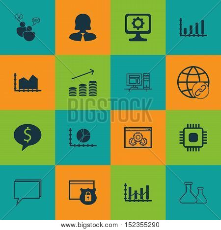 Set Of 16 Universal Editable Icons For Education, Statistics And Human Resources Topics. Includes Ic