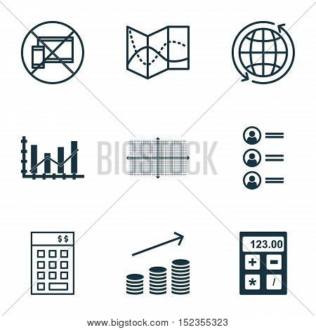 Set Of 9 Universal Editable Icons For Project Management, Human Resources And Education Topics. Incl