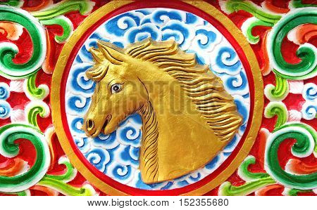Horse is chinesee zodiac animal sign.This Picture is Public.