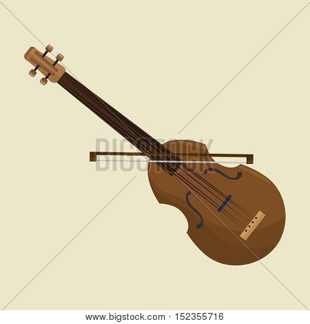 calssic violin music instrument design icon vector illustration eps 10