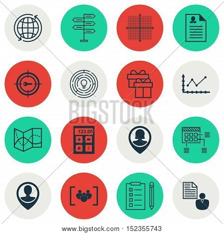 Set Of 16 Universal Editable Icons For Airport, Marketing And Statistics Topics. Includes Icons Such