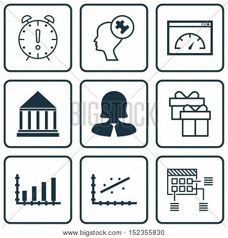 Set Of 9 Universal Editable Icons For Education, Airport And Statistics Topics. Includes Icons Such