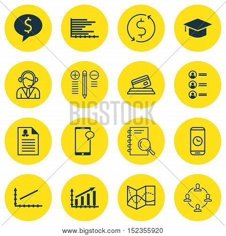 Set Of 16 Universal Editable Icons For Human Resources, Airport And Statistics Topics. Includes Icon