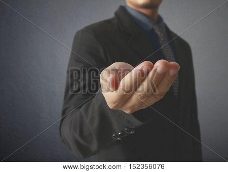 Business man with empty the hand