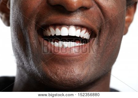 African American smile.