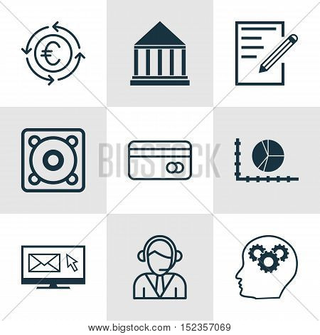 Set Of 9 Universal Editable Icons For Airport, Marketing And Travel Topics. Includes Icons Such As P