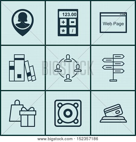 Set Of 9 Universal Editable Icons For Computer Hardware, Human Resources And Education Topics. Inclu