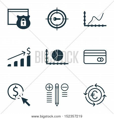 Set Of 9 Universal Editable Icons For Project Management, Seo And Marketing Topics. Includes Icons S