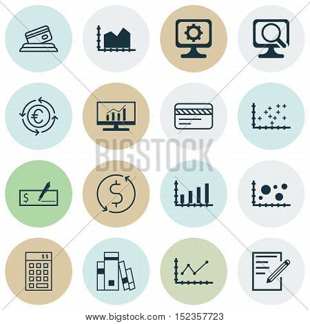 Set Of 16 Universal Editable Icons For Education, Human Resources And Computer Hardware Topics. Incl