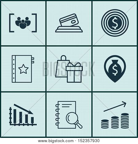Set Of 9 Universal Editable Icons For Airport, Project Management And Human Resources Topics. Includ