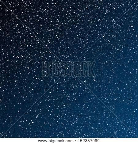 Vector background. Starry night sky. Stars, sky, night. The night the starry dark blue sky in stars.